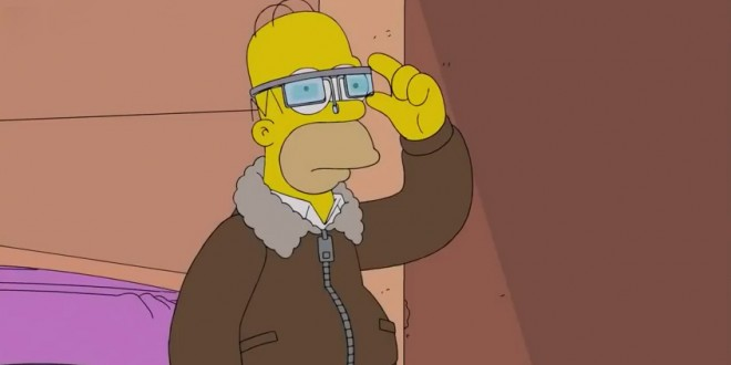 Homer Simpsons a essayé les Google Glass