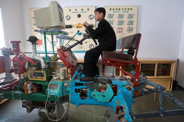 Simulateur d'un tracteur coréen
