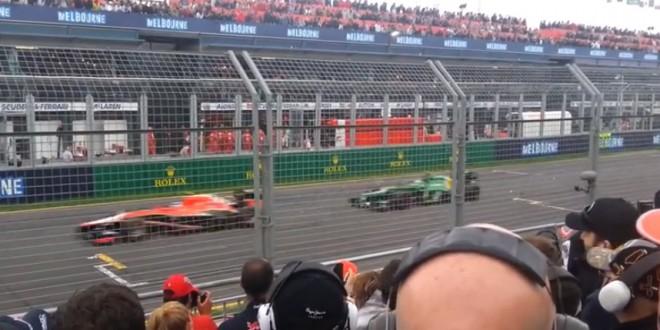 Comparaison du bruit d'un moteur de F1 en 2013 vs 2014