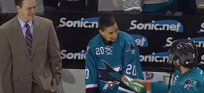 Au hockey, des joueurs réalisent le rêve d'un jeune fan malade