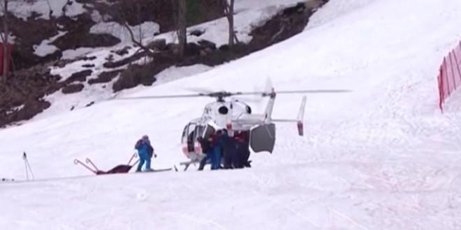 Chute spéctaculaire d'un skieur aux Jeux paralympiques