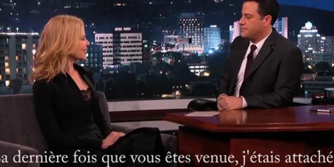 Nicole Kidman embarrassée par une lap dance faite à Jimmy Kimmel