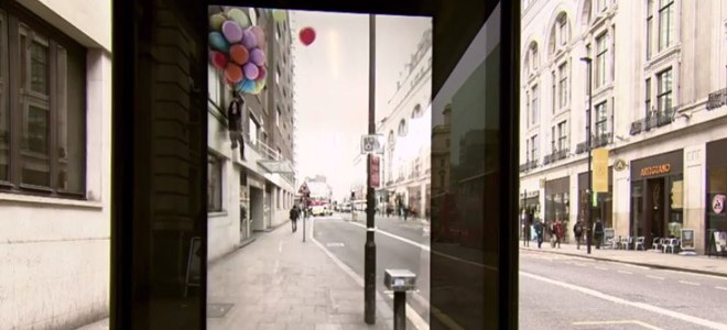 A Londres, une vitre spéciale dans un abribus fait le buzz
