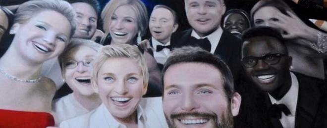 Une étudiante dessine le selfie de Ellen DeGeneres aux Oscars