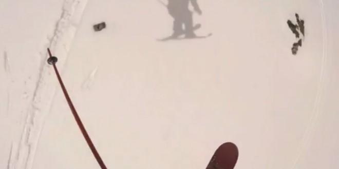La dernière descente en ski de la saison