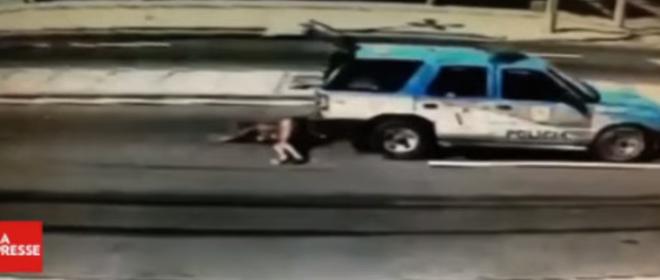 Une innocente mère de famille abattue et trainée par la police