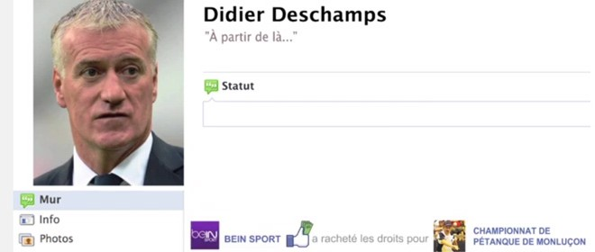 Deschamps va sur Facebook après l'élimination de l'équipe de France