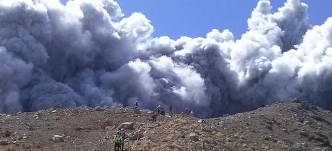 Des randonneurs japonais surpris par un volcan