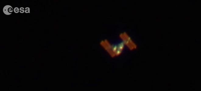 L'ISS filmée depuis la Terre