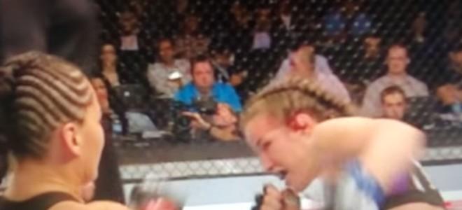 Oreille explosée pendant un combat UFC