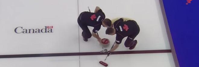 Spin-O-Rama pendant une partie de curling