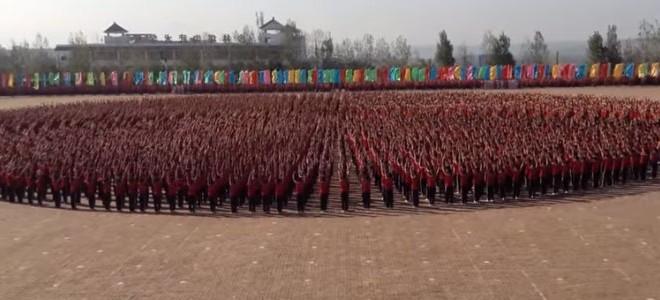 Spectacle synchronisé de l'école d'arts martiaux Tagou Shaolin
