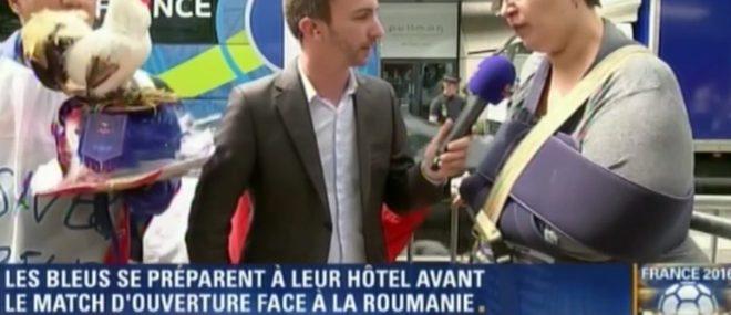 Une supportrice des Bleus bugge au micro de BFMTV