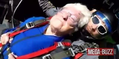 Vidéo : Une mamie de 95 ans s'envoie en l'air !