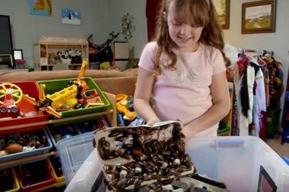 A 9 ans cette fillette a une passion un peu particulière !