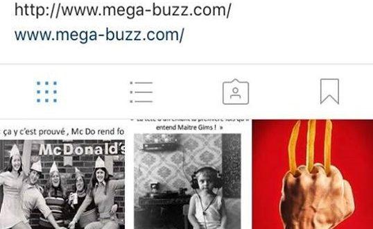 Mega-buzz arrive sur Instagram ! Champagne et cotillon !